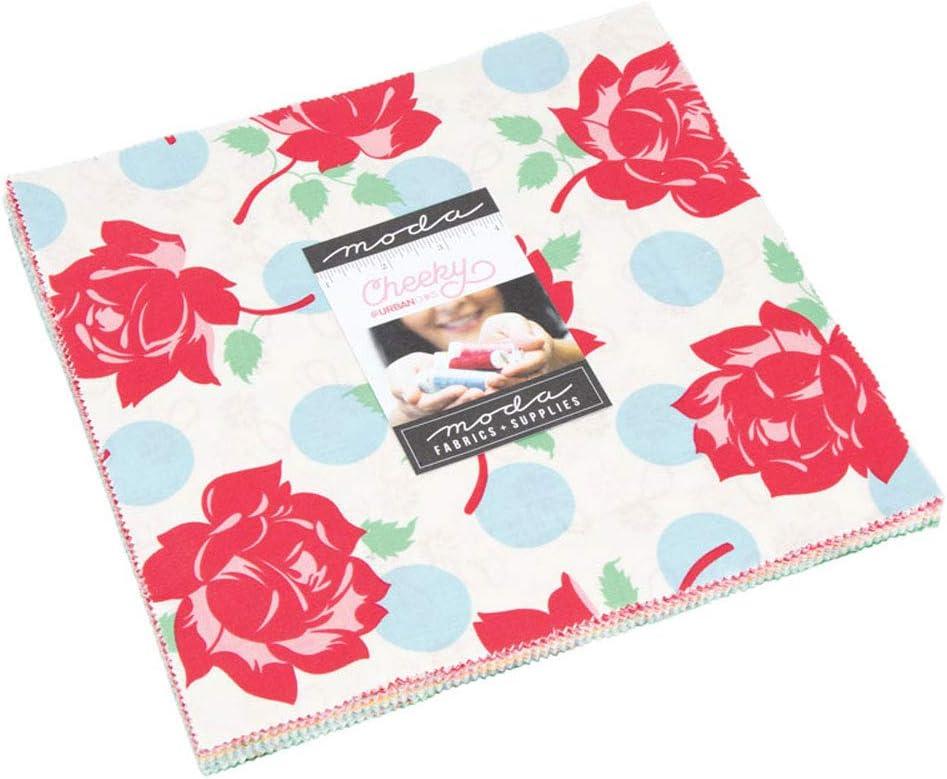 "Little Snippets Moda Layer Cake 42 100/% Cotton 10/"" Precut Quilt Squares"