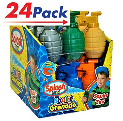 - JA-RU Water Squirt Grenade (Pack of 24) Kids Toys Super Soaker Water Splash   Item #868-24