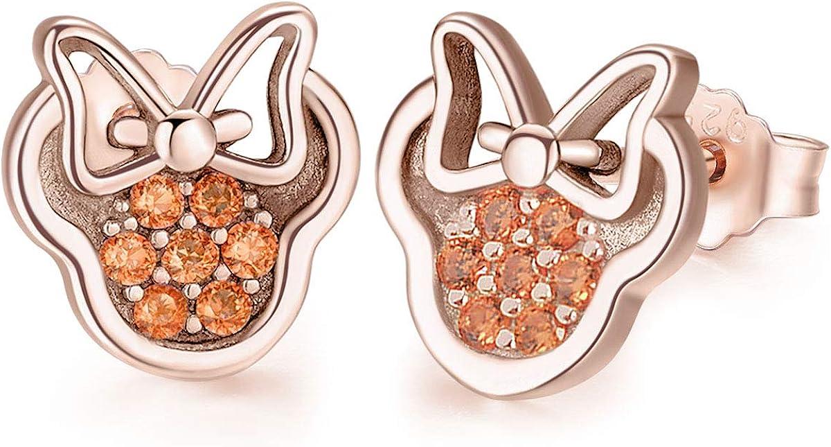 Twenty Plus Petites boucles doreilles /à tige Minnie Mouse avec zircone cubique pour femme ou fille