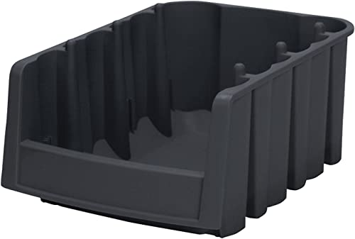 Akro-Mils – 30776 Economy Stacking Nesting Plastic Storage Bin, Black, 17.875 x 6.625 x 7