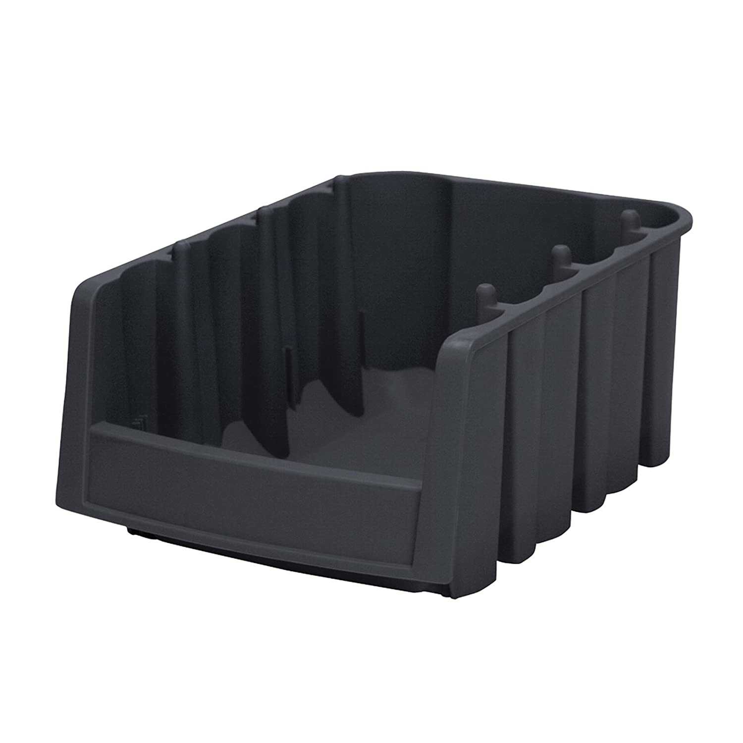 Akro-Mils 30776 Economy Stacking Nesting Plastic Storage Bin, 17-7/8-Inch Long by 6-5/8-Inch Wide by 7-Inch High, Black, Case of 10