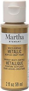 Martha Stewart Crafts Multi-Surface Craft Gold, 2 oz Metallic Paint