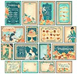 Graphic 45 4501442 Cafe Parisian Ephemera Cards (Pack of 32),