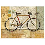 GREATBIGCANVAS Poster Print Entitled Vintage Travel - Bicycle by Tim Coffey 24''x17''