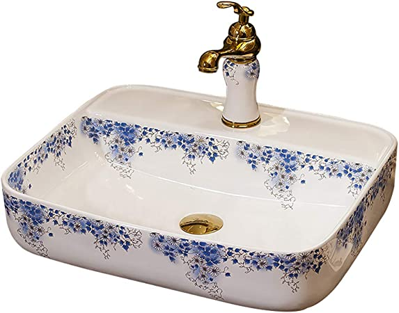 Antico Lavello In Ceramica.Linlin Ceramica Lavello Contenitore Rubinetto Acqua Set Antico Bacino D Arte 52 42 13cm Amazon It Casa E Cucina