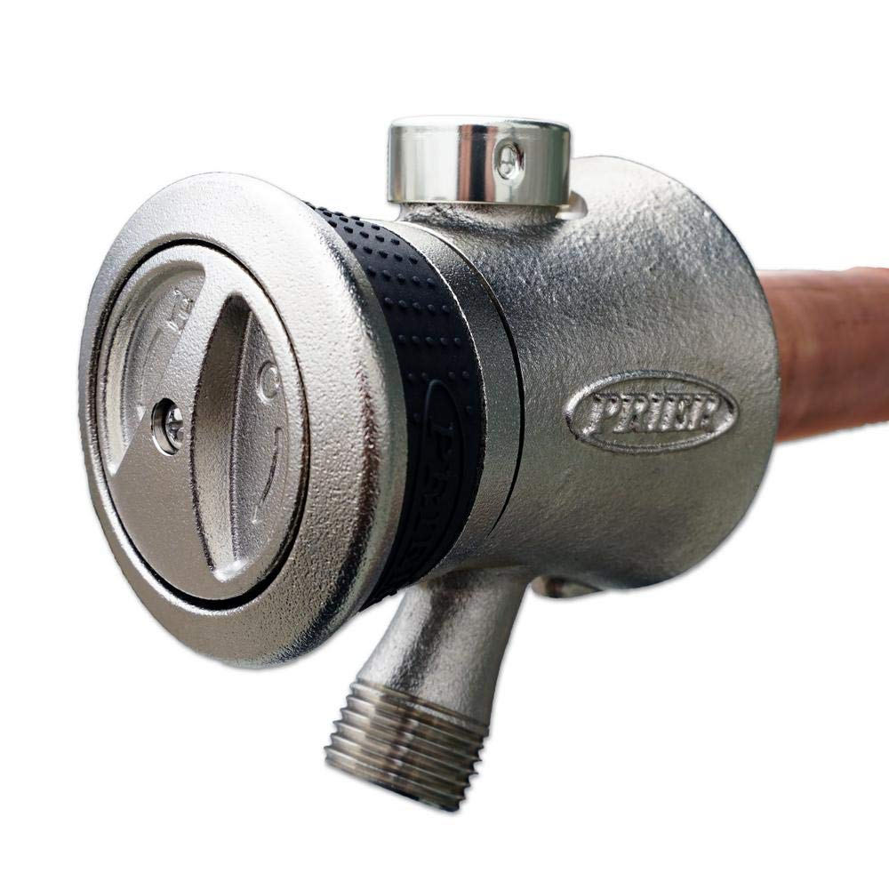 1//2 Plain Copper Ends Prier Products P-118L10 10 Single Handle Hot /& Cold Mixing Hydrant Satin Nickel