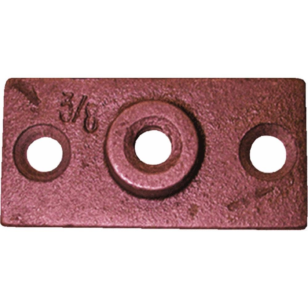 Jones Stephens Corp. H82375R 3/8'' Copper-Plated Ceiling Flange Pack of 25