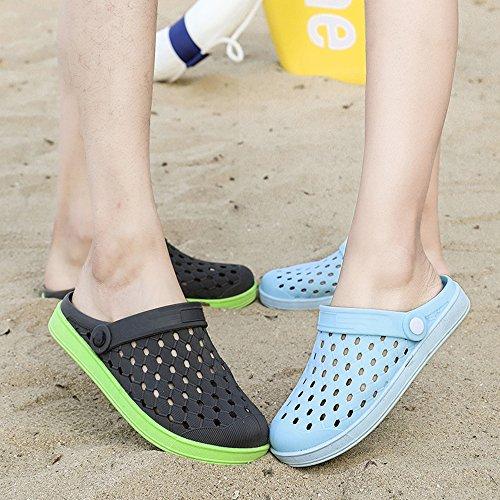 Atmungsaktiv 36 für Slippers Sommer Pantoletten Grau Clogs Damen Grün Sandalen 44 Herren Hausschuhe Aqua Schuhe Unisex Strandschuhe Beach Gaatpot wXf7ZBqf