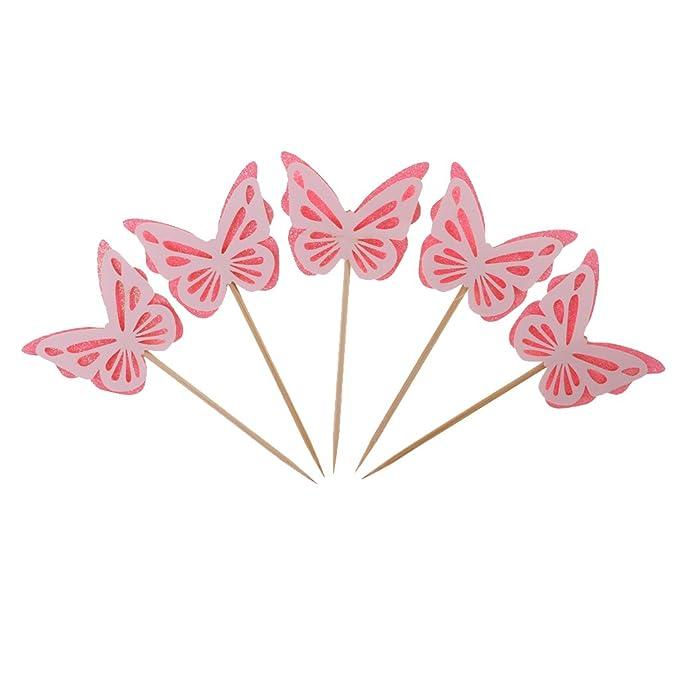 Set 24x Deko Schmetterlinge Tischdeko Tortendeko Hochzeit Party Feier Dekoration