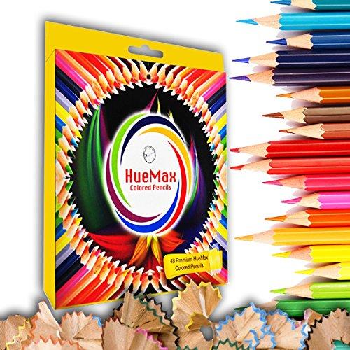HueMax Colored Pencil Set - 48 Pencils