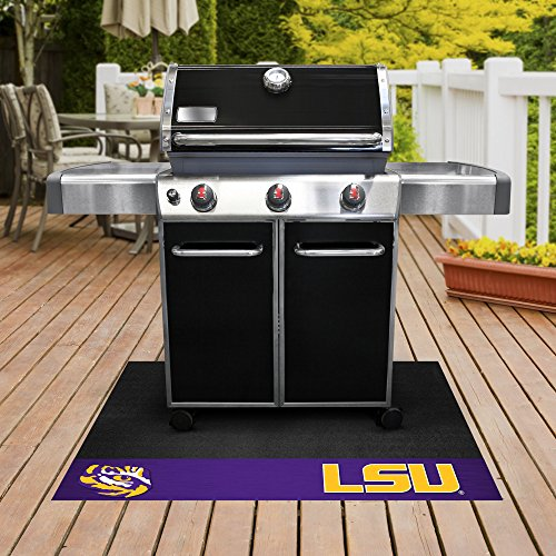 (FANMATS NCAA Louisiana State University Tigers Vinyl Grill Mat)