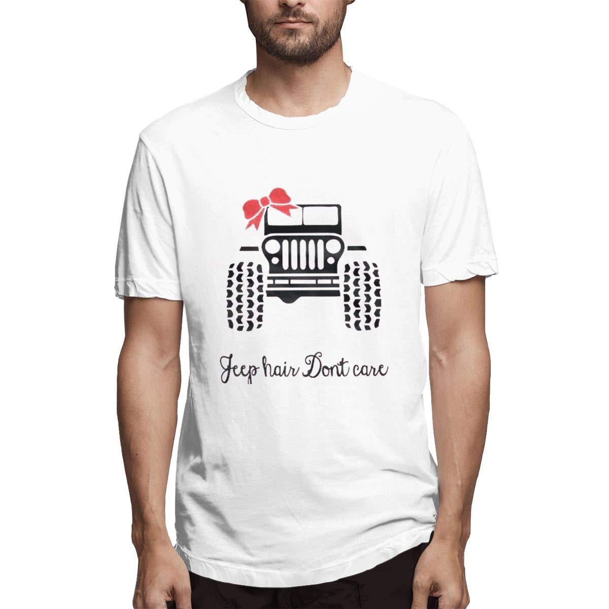 VIIHAHN Jeep Hair Dont Care Men Basic Travelround Neck Short Sleeve T Shirt