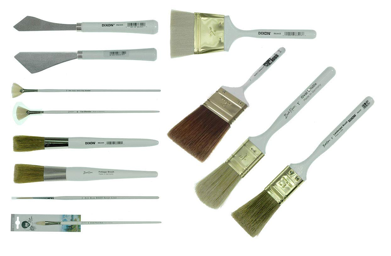 Bob Ross - Landscape Brush Set, Oil Based Painting Tools, 12 pieces by BobRoss