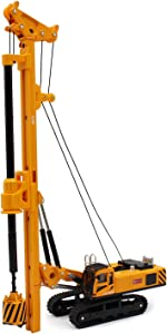 fisca 1/64 Die-cast Rotary Drilling Rig Model Construction Equipment Vehicle Toy