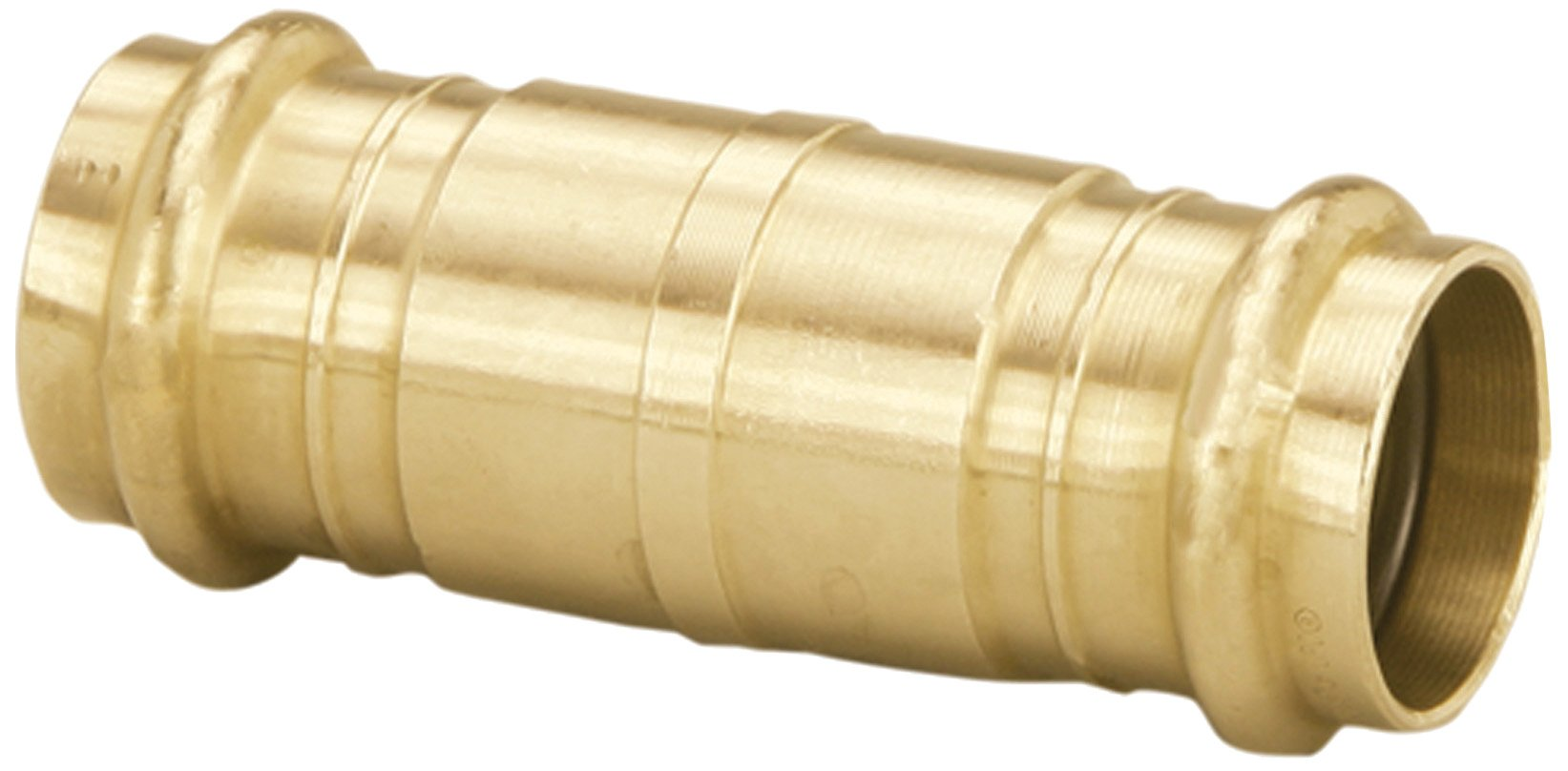 Viega 78218 ProPress Bronze Coupling Extended without Stop 3/4-Inch P x P