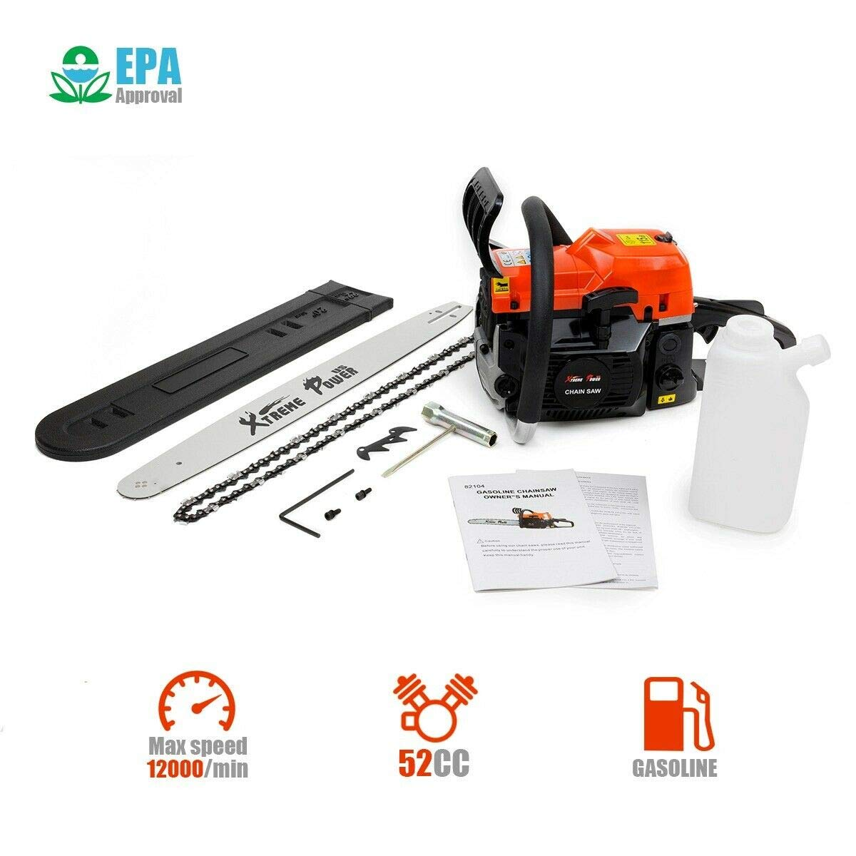 XtremepowerUS 52cc 2 Stroke Chainsaws product image 7