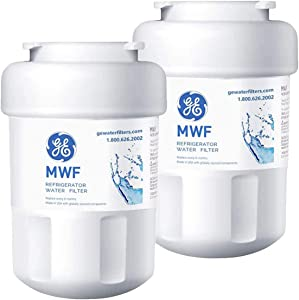 PURIFYDEW Refrigerator Water Filter Smart Water Fridge Cartridge Replacement for GE MWF, MWFA, MWFP, GWF, GWFA (2 PACK)