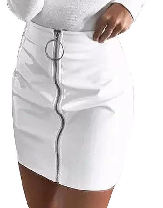 Minifalda Polipiel Corta para Mujer. Falda Sexy y atrevida de ...