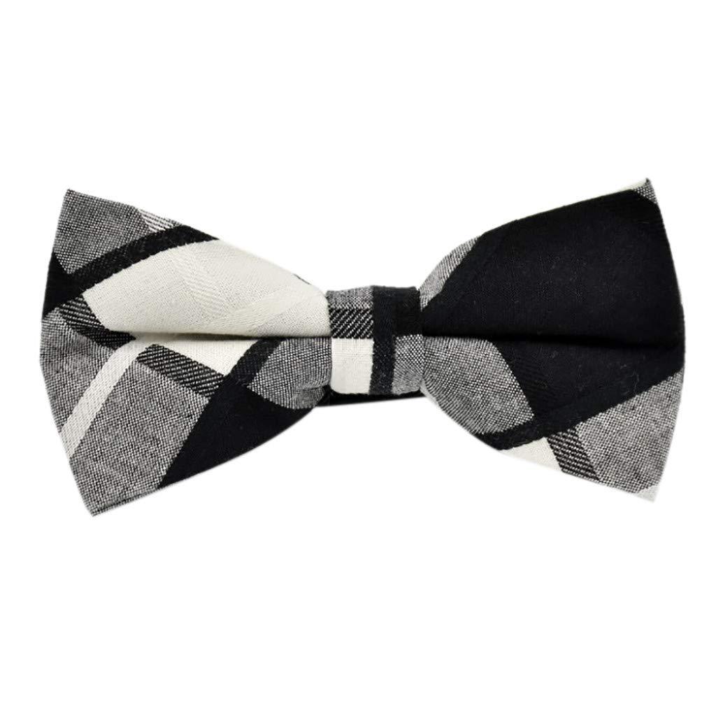 NRUTUP Adjustable Fashion Men Formal Wedding Bowtie Novelty Tuxedo Necktie Bow Tie Hot Sales(Multicolor e,Free Size)
