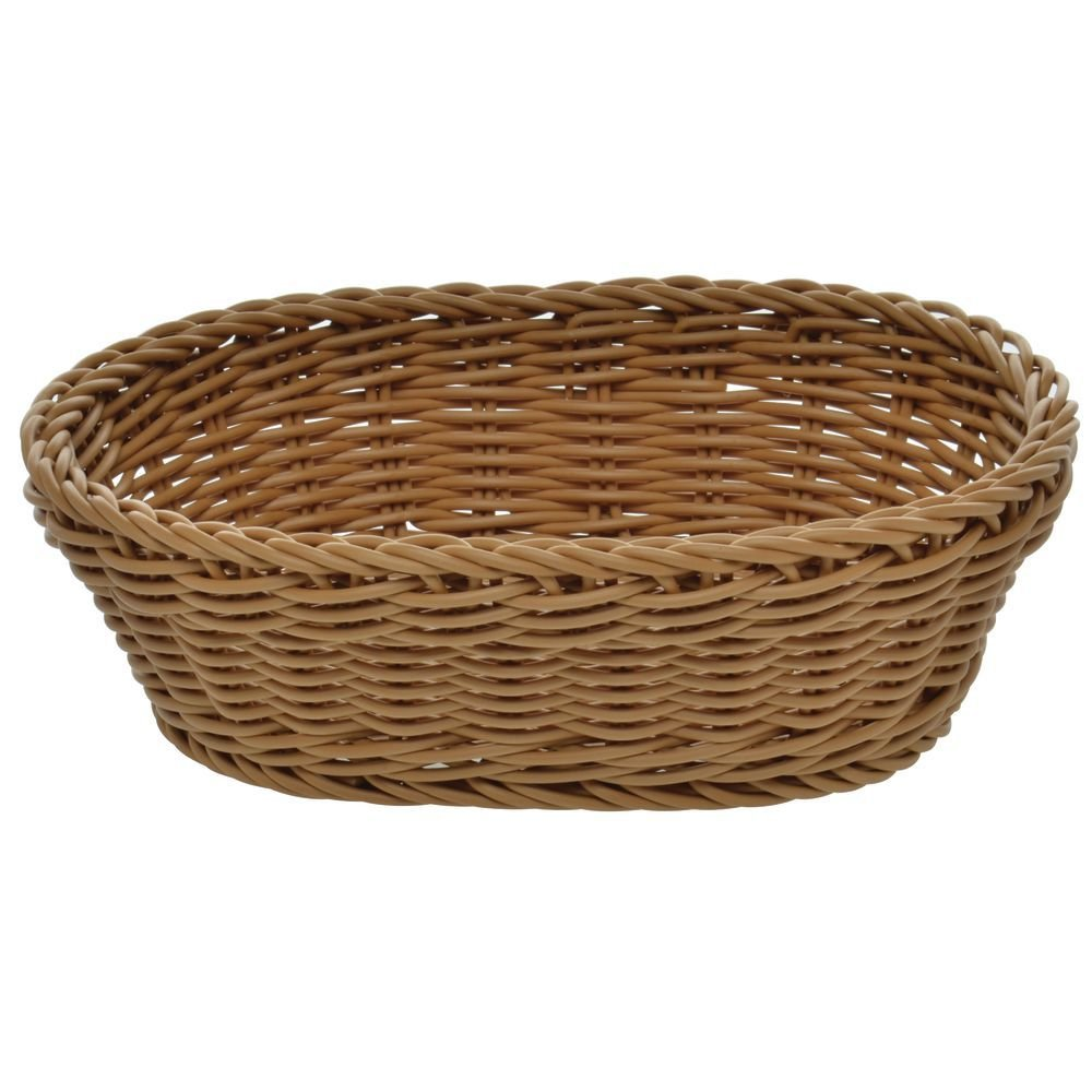"""Set Of 2 Bread  Basket Serving Wall Décor Oval Rattan Wicker 10*7*3/"""""""