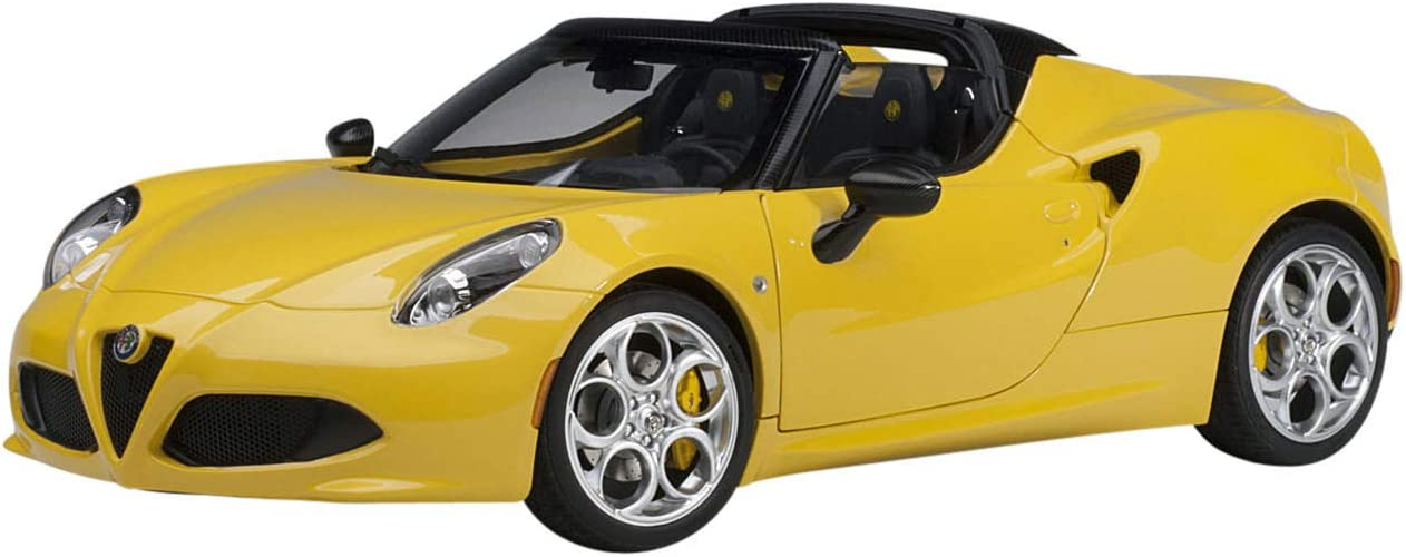 AUTOart Alfa Romeo 4C Spider Giallo Prototipo Yellow with Black Top 1/18 Model Car 70143