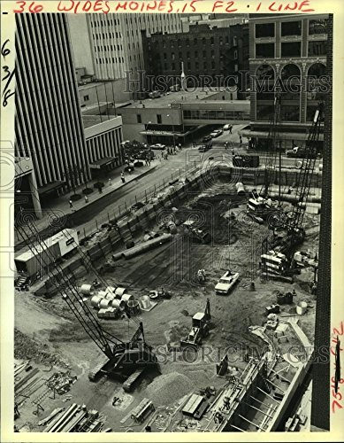 1984 Press Photo $48 million downtown shopping mall and office in Des - In Downtown La Malls Shopping