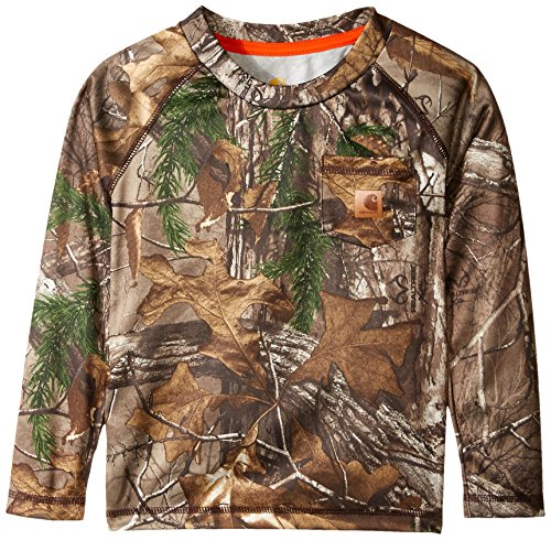 Carhartt Little Boys' Force Camo Pocket Tee, Realtree Xtra, 4T