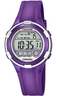Calypso. Reloj Digital para Dama con Esfera LCD y Pantalla Digital, y Extensible de plástico de…