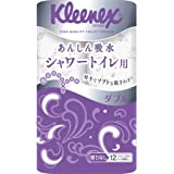 クリネックス シャワートイレ用 トイレット12ロール 22.6mダブル