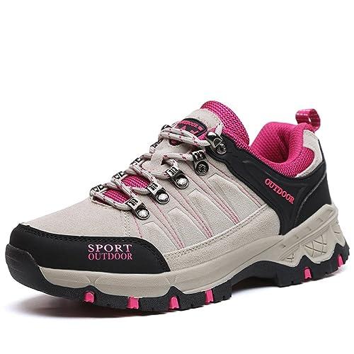 Hombre Mujer Zapatillas de Trekking Antideslizante Zapatos de Escalada Zapatillas de Deporte al Aire Libre 36-45: Amazon.es: Zapatos y complementos
