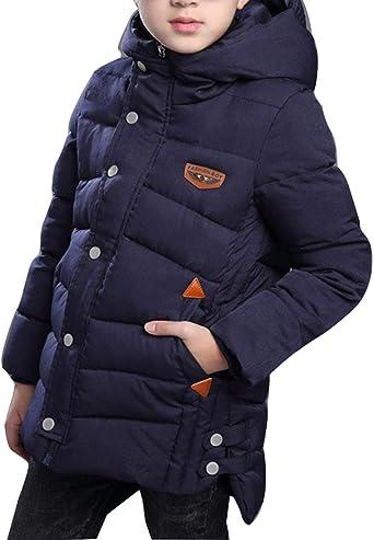 Kids Girls Boys Winter Down Coat Parka Warm Outwear Hooded Parka Jacket Coats UK
