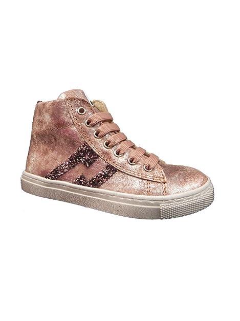 Sneakers rosa con cerniera per bambini CYENs01