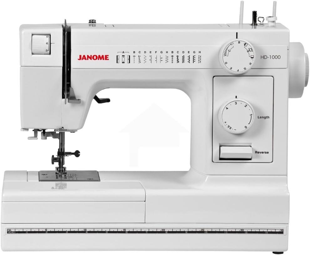 Janome HD1000 PLKHG484UY2840 - Máquina mecánica: Amazon.es: Hogar