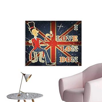 Amazoncom Housedecor British Custom Prints Poster I Love
