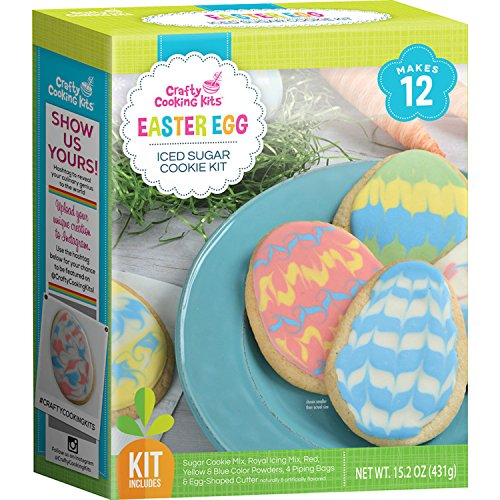 Easter Egg Sugar Cookie Decorating and Baking Mix by Crafty Cooking Kits - Great for All Ages