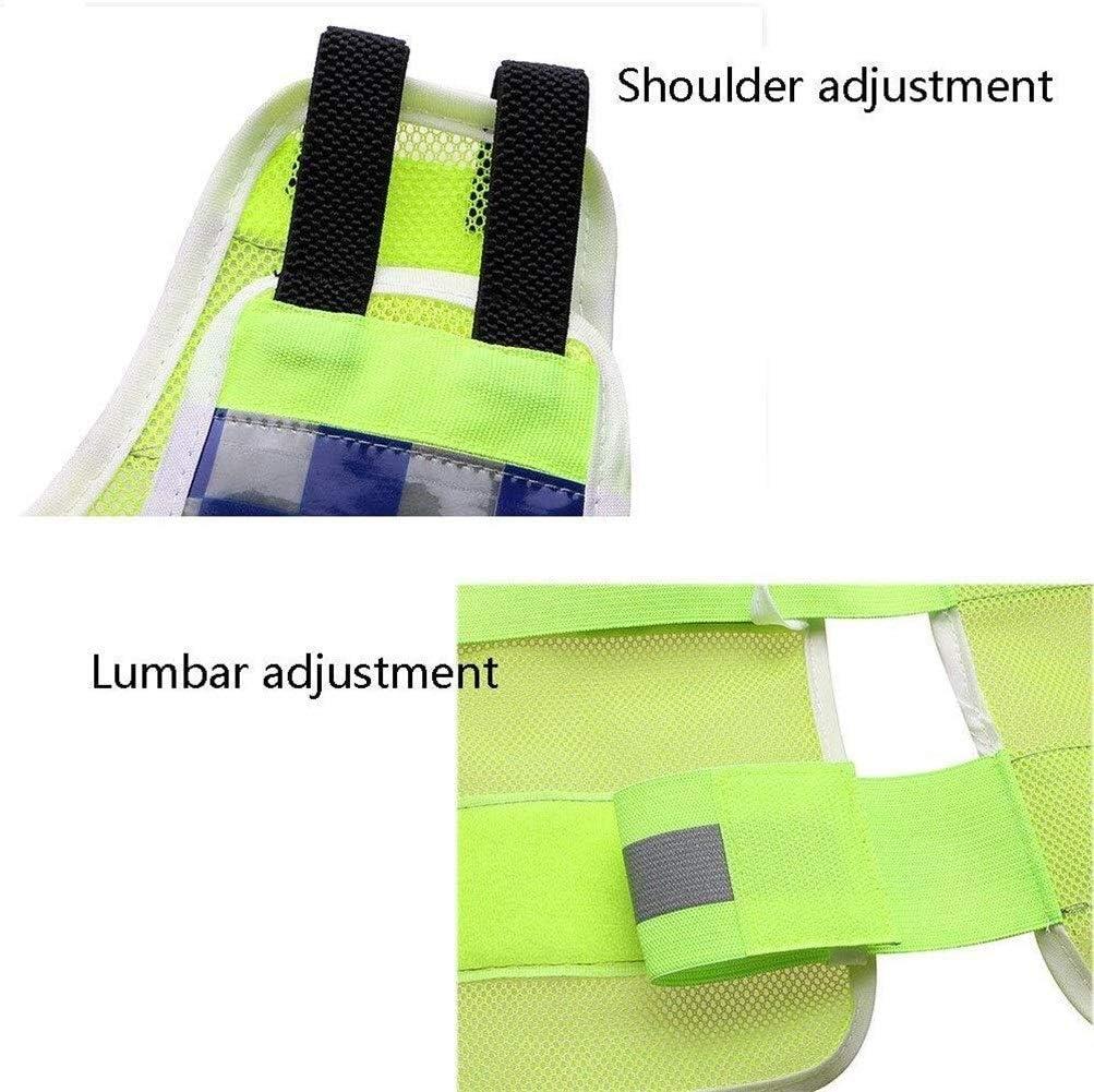 Color : Xl Verkehr Duty-Leuchtstoffweste Lattice Nacht Schutz Sicherheits-Jacken-Mantel gelb fluoreszierend Tactical Vest BhuoRZy Reflektierende Westen