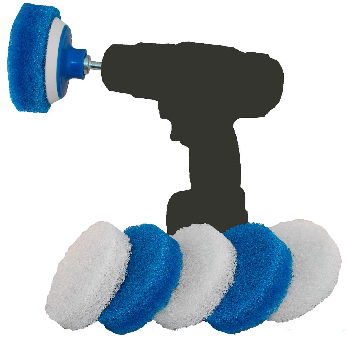 Scouring Pad Brush Electric Drill Clean Kitchen Floor Hard: Amazon.com: BasicBrush Drill Brush Attachment Kit