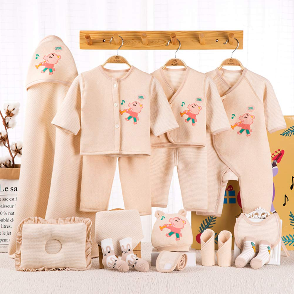RONSHIN Infant Colorful Cotton Cute Printing Baby Suit Gift Set Baby Supplies Four Seasons Musical Pig C 59 by RONSHIN