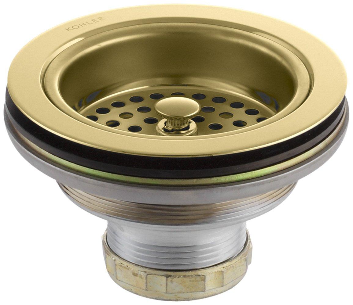 KOHLER 8799-PB Duostrainer Sink Strainer, Vibrant Polished Brass, 1.5,