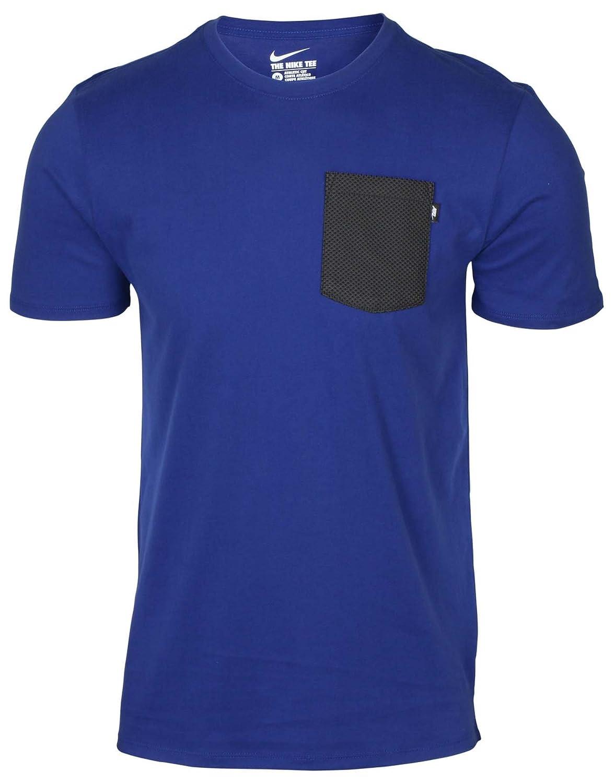 XXL Nike Premium Tee-Knit Poche Chemise Bleu pour Homme 871772 455