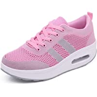 zaragfushfd Women Sneakers Comfort Slip On Wedges Shoes Breathable Mesh Walking Shoes for Women
