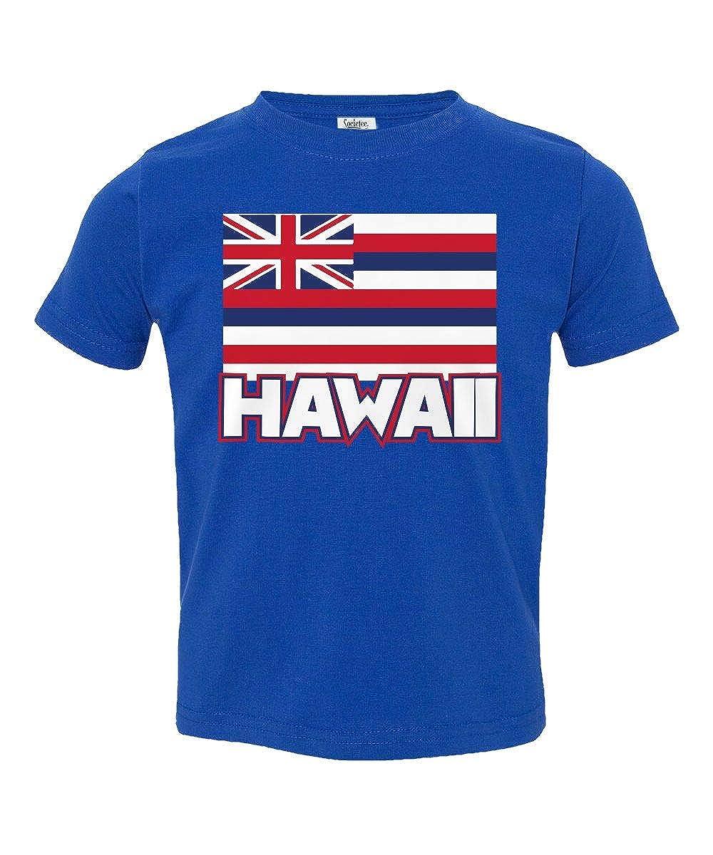 Societee Flag of Hawaii Island Honolulu Cute Little Kids Girls Boys Toddler T-Shirt