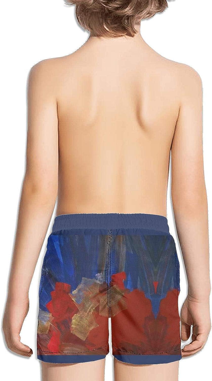 Ouxioaz Boys Swim Trunk Anchor Pattern Beach Board Shorts