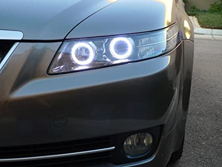 Amazoncom IJDMTOY K Xenon White LED Angel Eye Halo Rings Kit - 2006 acura tl headlights