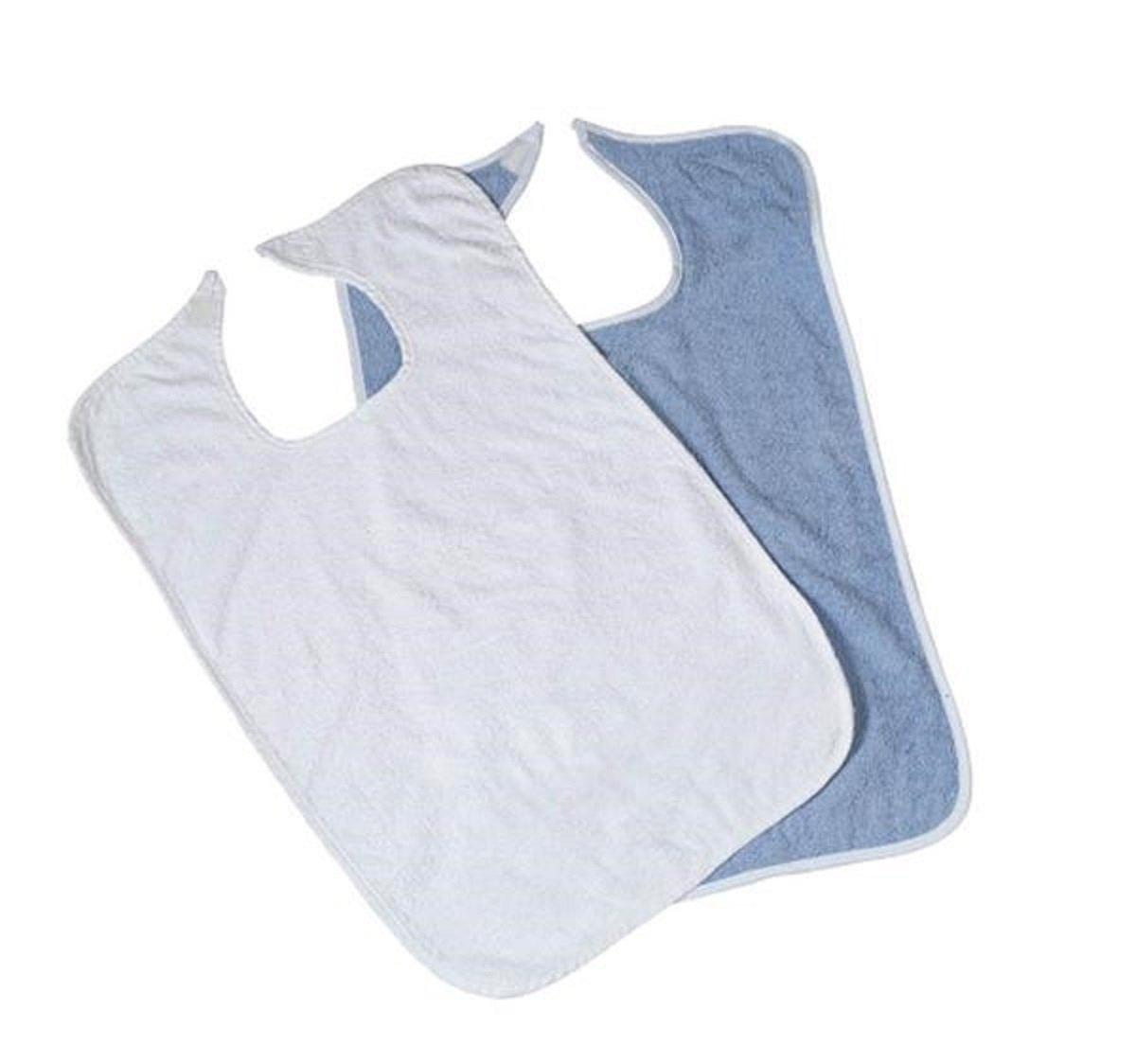 1 DOZEN VELCRO TERRY CLOTH CLOTHING PROTECTORS 18x30 (Blue)
