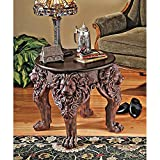 Cheap Design Toscano Lord Raffles Lion Leg End Table