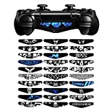 eXtremeRate Set of 30 Custom Scared Skull Design LED Lightbar Decals for Dualshock 4 Playstation 4 PS4 PS4 Slim PS4 Pro Controller Stickers Skins