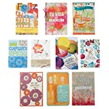 Hallmark Vida Birthday Greeting Card Assortment (10 Cards, 10 Envelopes)