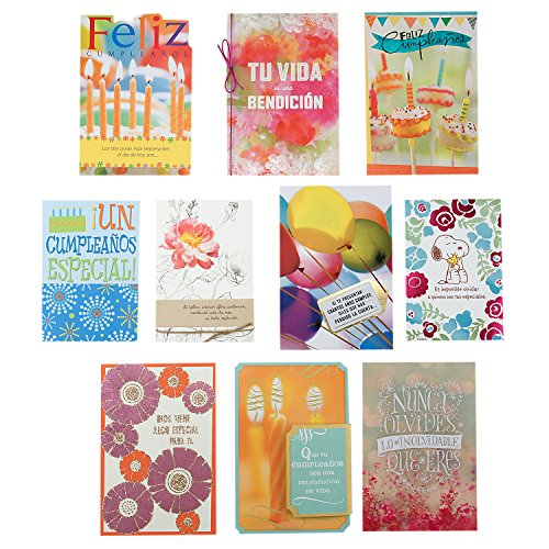 Hallmark Vida Birthday Greeting Card Assortment (10 Cards, 10 Envelopes) by Hallmark