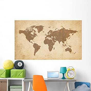 Amazon wallmonkeys old world map wall mural peel and stick wallmonkeys old world map wall mural peel and stick graphic 72 in w x 42 gumiabroncs Image collections